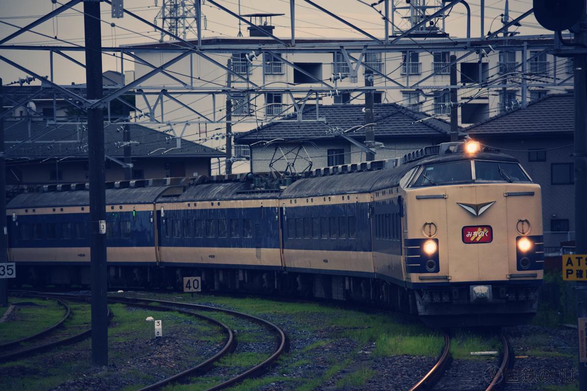 リバイバル「みちのく」小山駅にて、2015年6月28日。