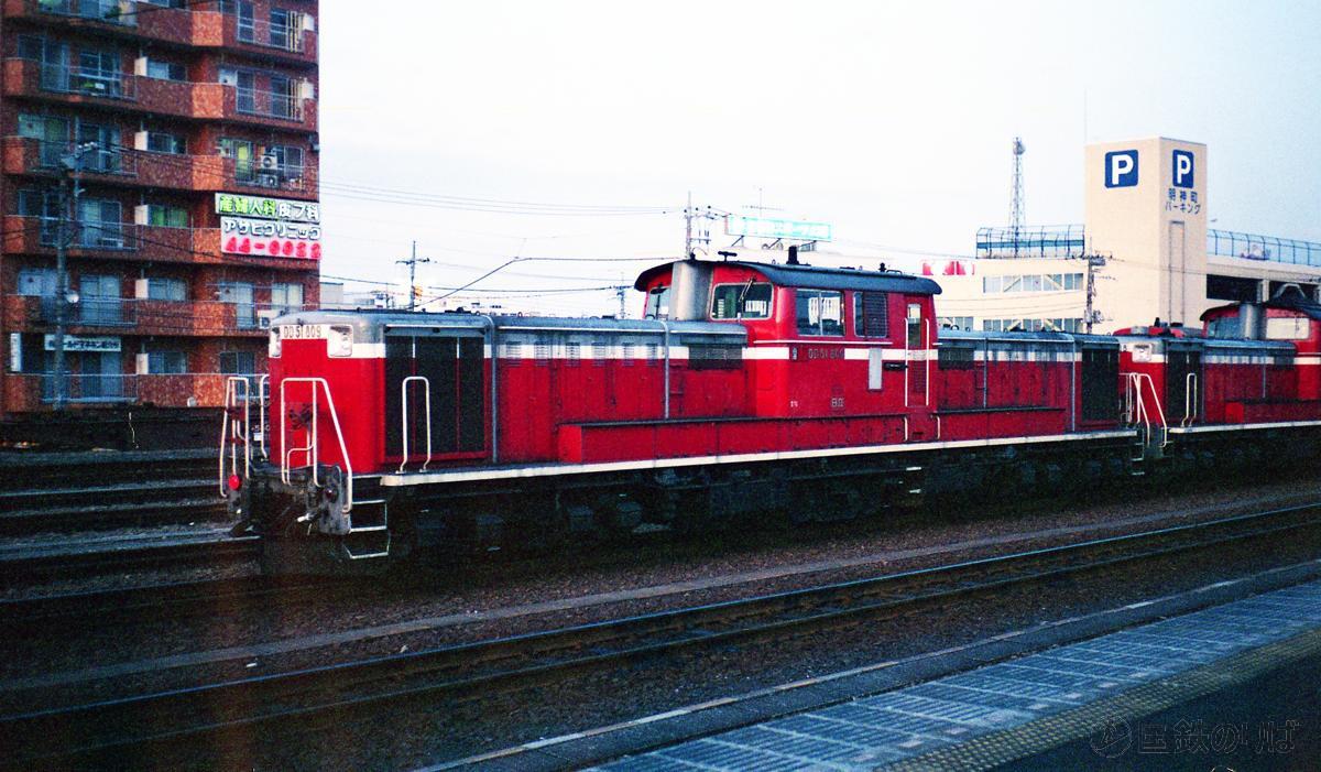 1995年。八王子駅構内に佇むDD51‐809