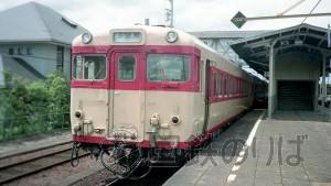 1992年・夏、美濃太田駅。太多線のキハ58-733(海ミオ)