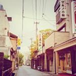 糸魚川の歓楽街。ホームランて店で飲んで、シメにラーメン食べてみたい。