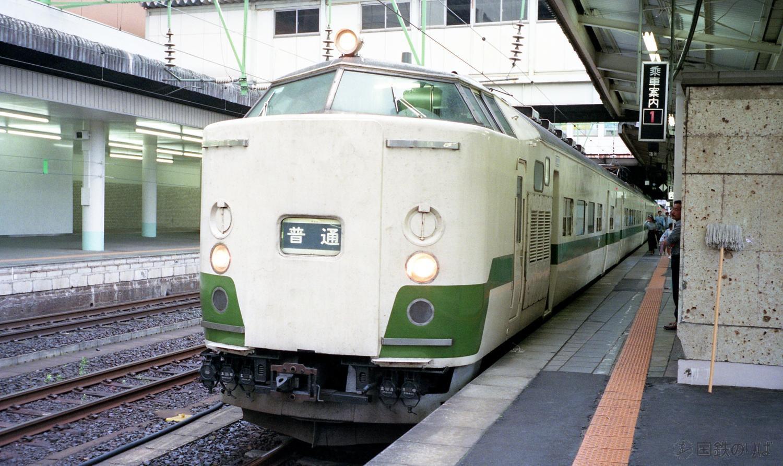 クハ715-1000番台。クハネ581形改造の上り方(黒磯方)制御車。