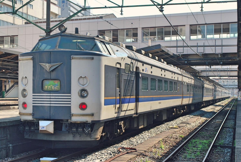 2011年7月、新潟駅地平ホームに到着した「急行きたぐに」。廃止の8カ月前だが、繁忙期ということもあり増結され堂々の12連だった。
