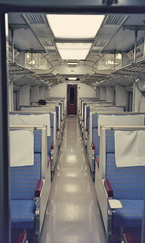 1998年9月。下り急行きたぐに501M、自由席2号車内にて。
