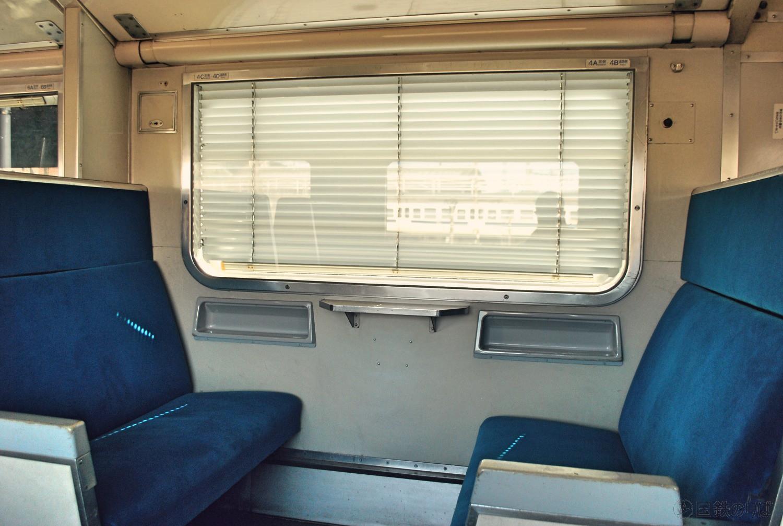 581系座席使用時の状態