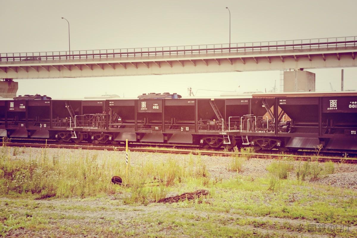 ホキ800には「函」と大書きされていて国鉄の香りを漂わせる。