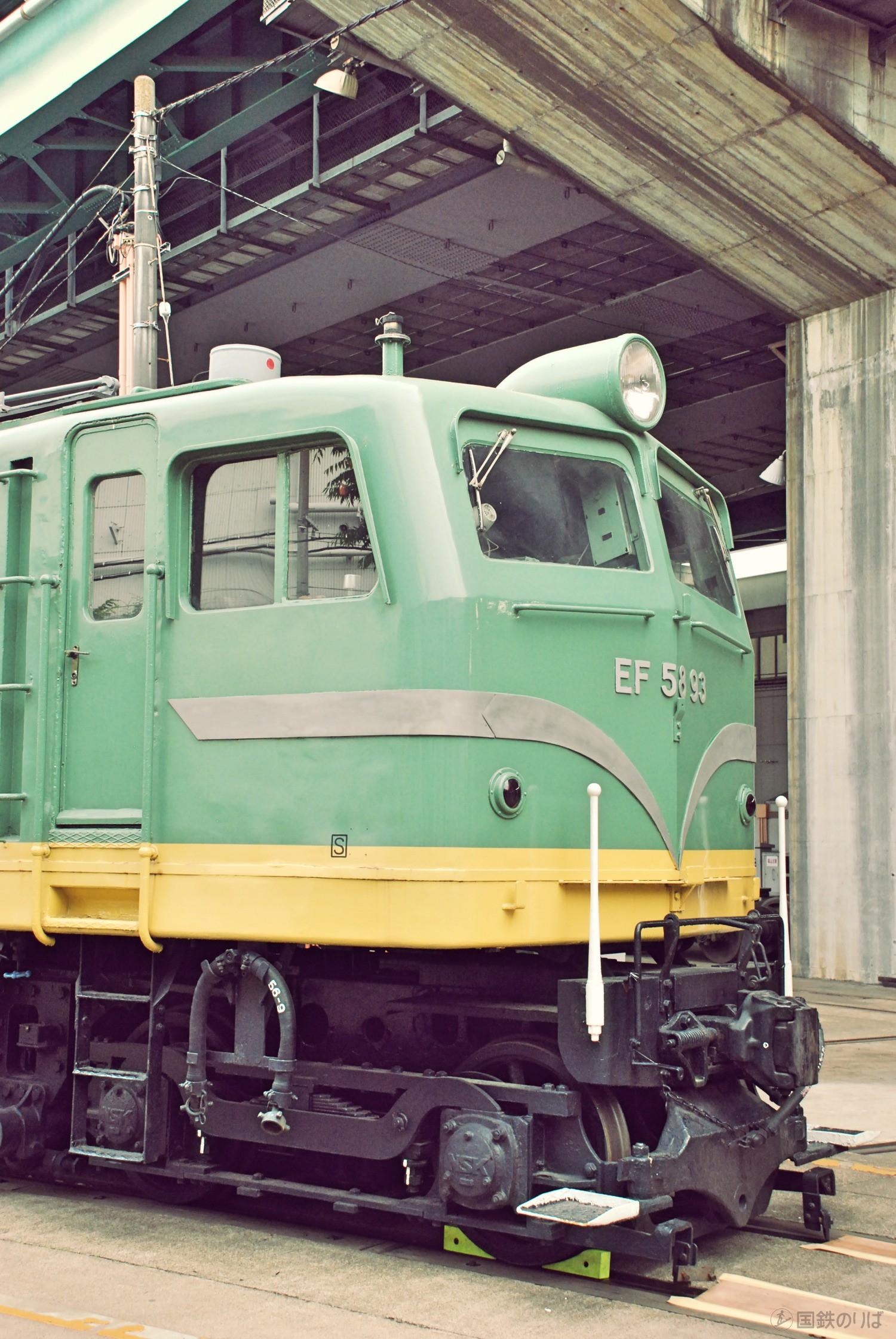 EF58-93号機2エンド側前頭部。