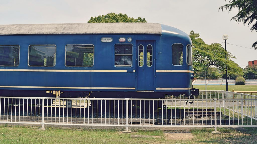 福岡市貝塚公園の20系客車「ナハネフ22-1007」