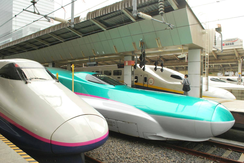東京ー大宮間最速新幹線はなんと上越新幹線E2系「とき311号」。所要時間22分で表定速度は85.4km/h。